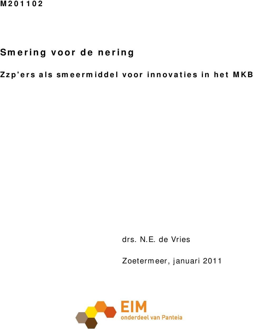 innovaties in het MKB drs. N.E.