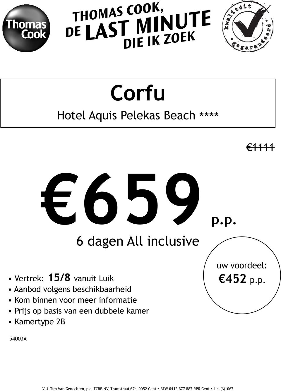 p. 6 dagen All inclusive