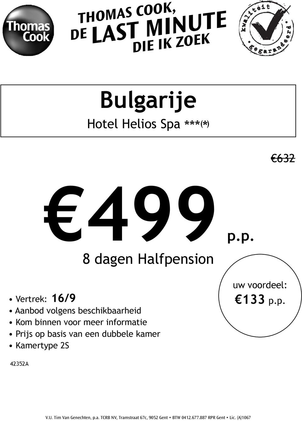 p. 8 dagen Halfpension
