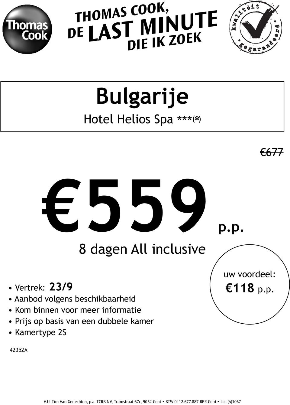 p. 8 dagen All inclusive