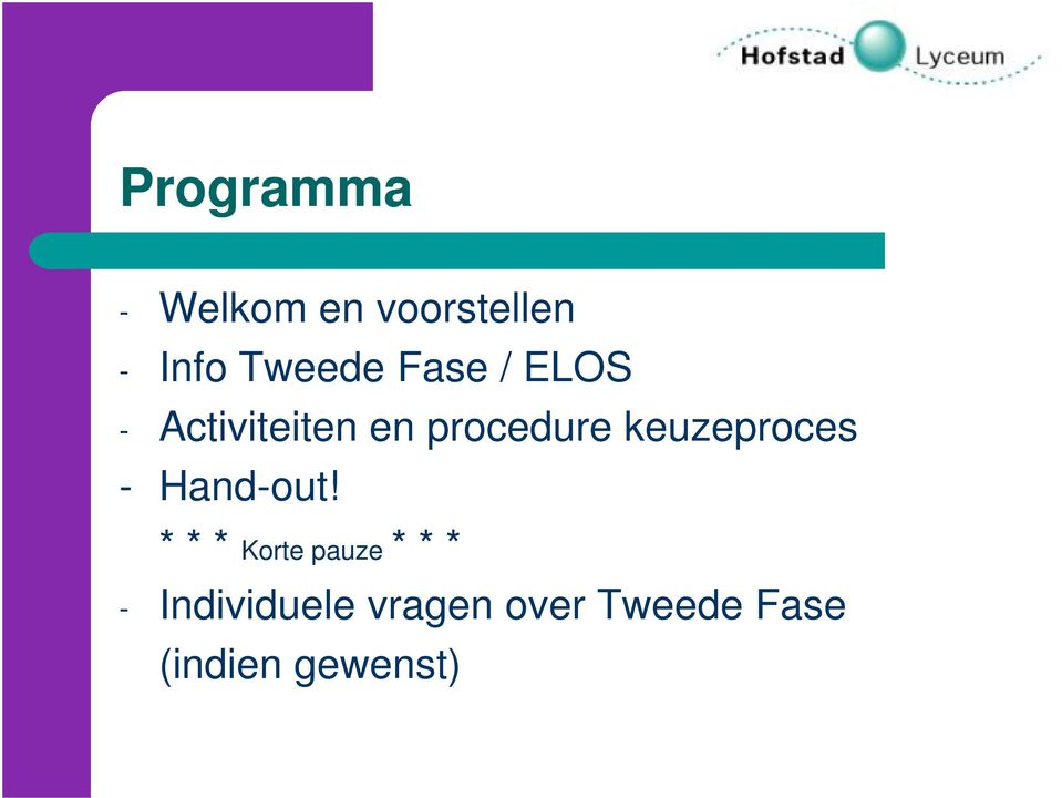 keuzeproces - Hand-out!