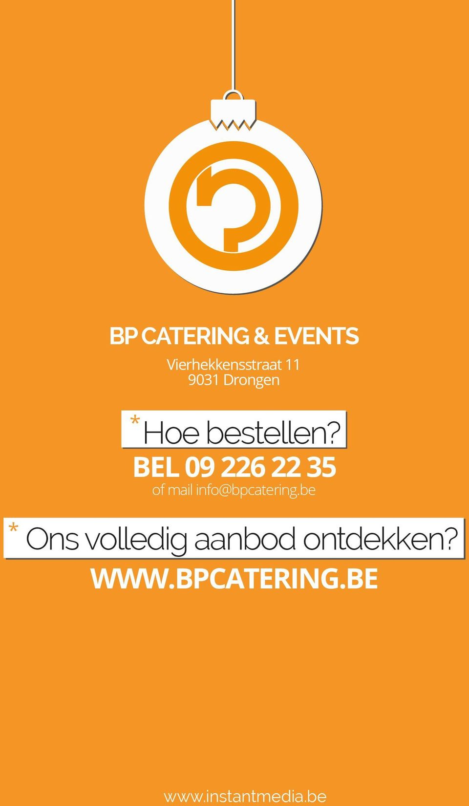 BEL 09 226 22 35 of mail info@bpcatering.