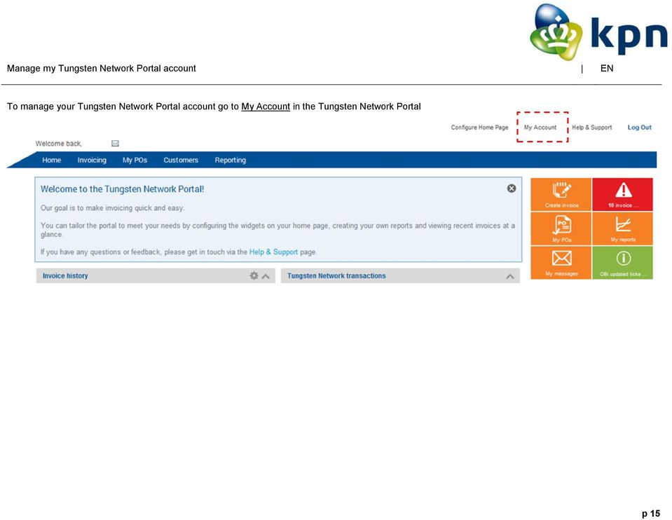 Network Portal account go to My
