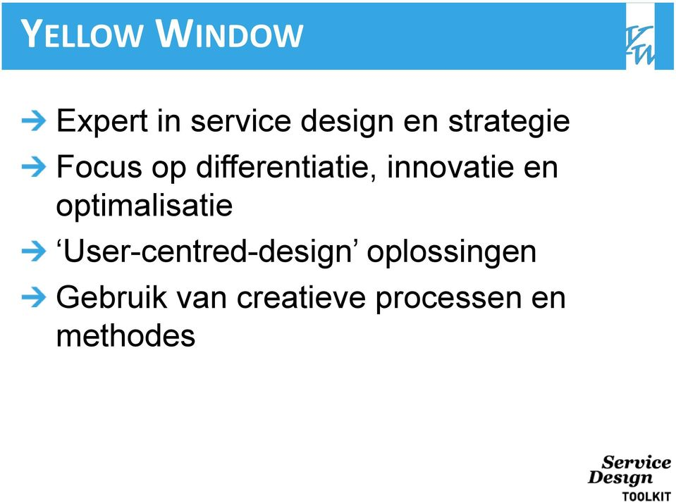 en optimalisatie User-centred-design