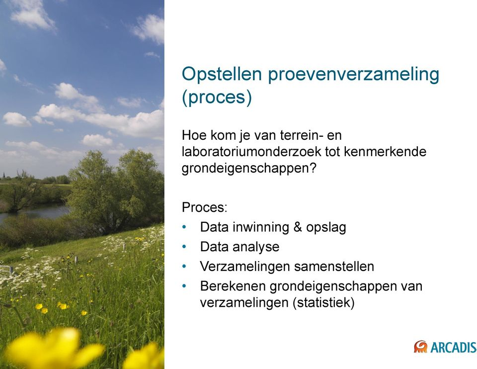 Proces: Data inwinning & opslag Data analyse Verzamelingen