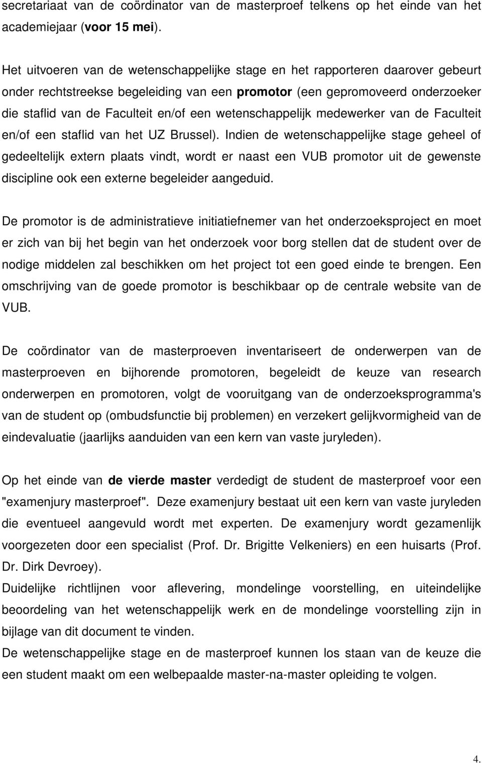 vub reglement thesis