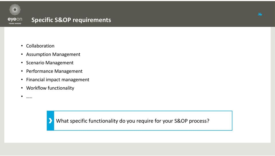 Financial impact management Workflow functionality.