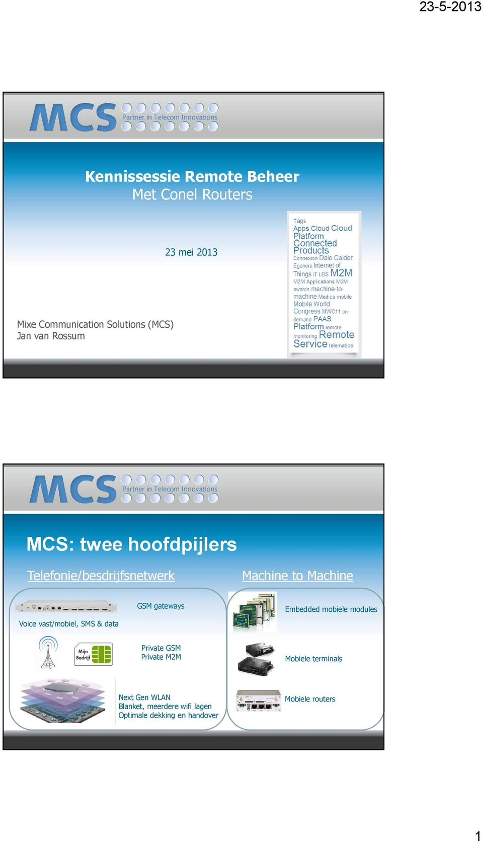 vast/mobiel, SMS & data GSM gateways Embedded mobiele modules Private GSM Private M2M Mobiele