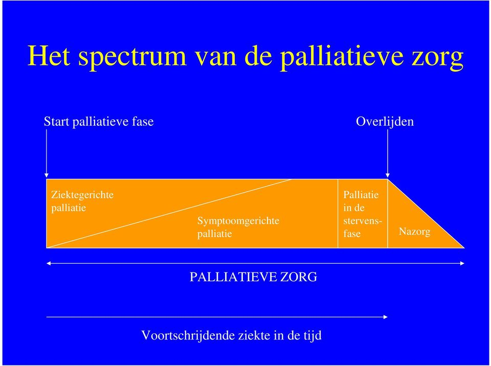 Palliatie in de Symptoomgerichte stervenspalliatie