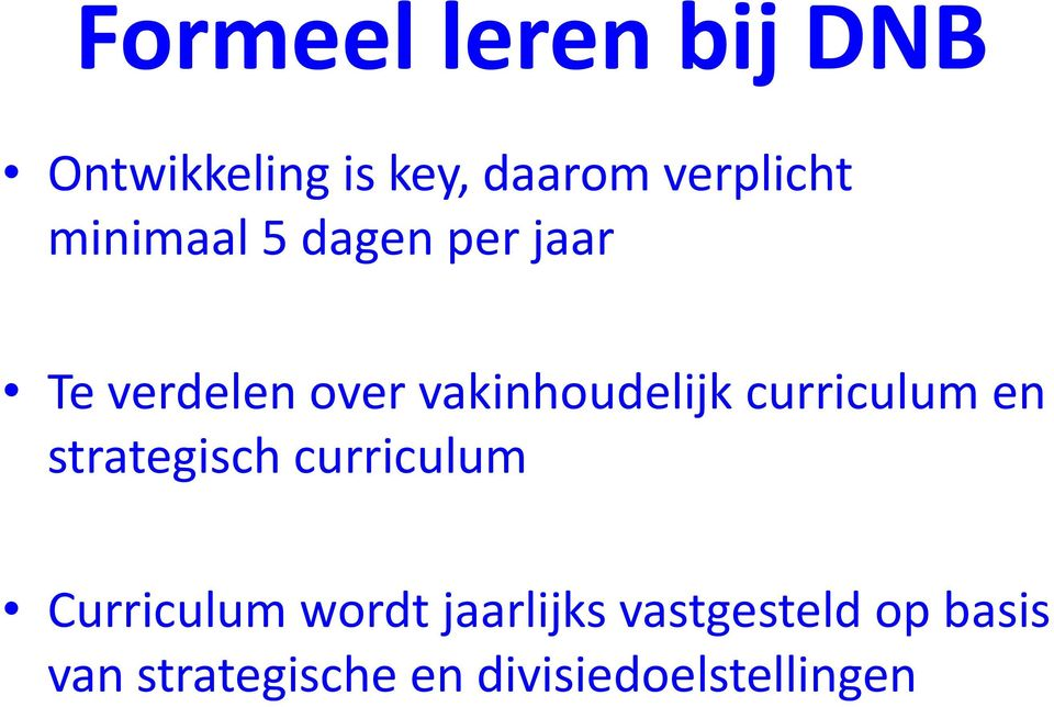 curriculum en strategisch curriculum Curriculum wordt