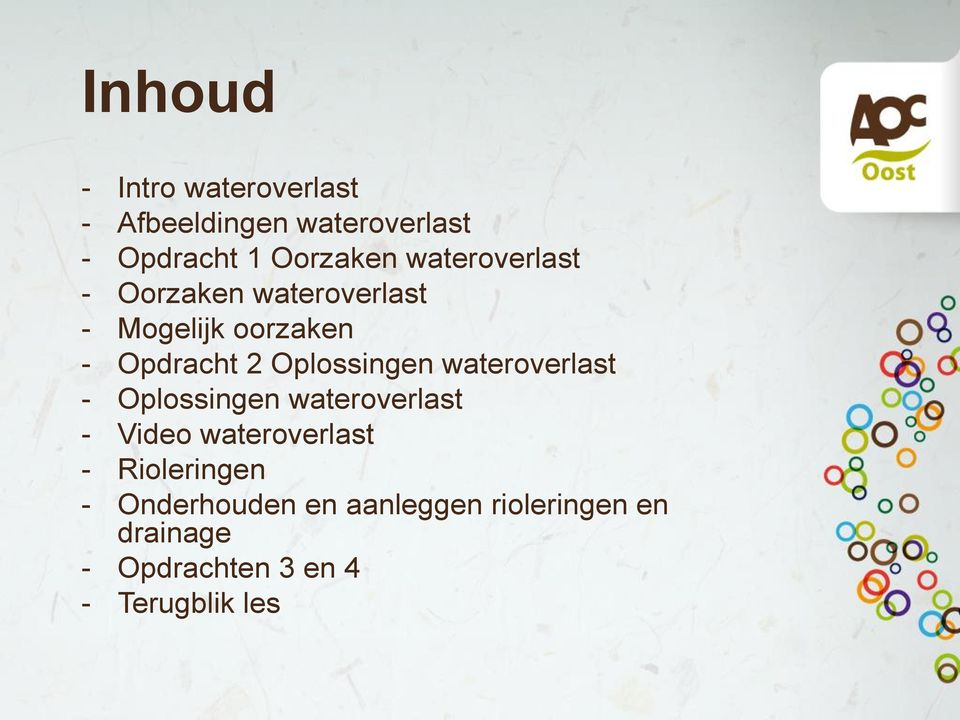 Oplossingen wateroverlast - Oplossingen wateroverlast - Video wateroverlast -