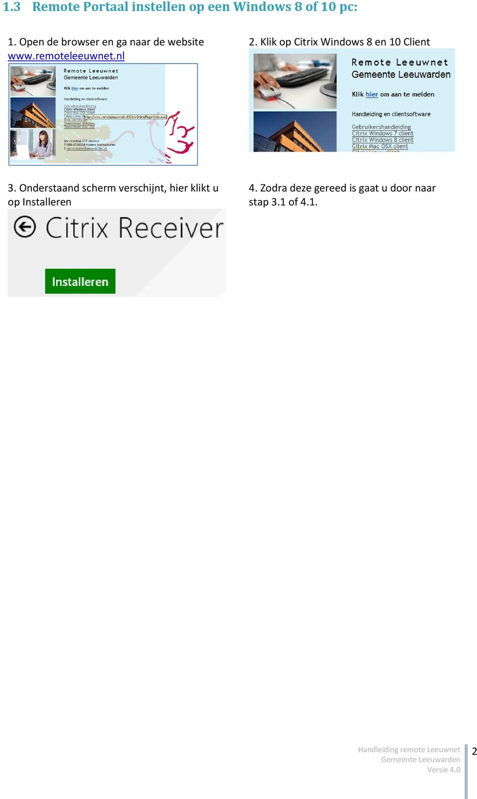 Klik op Citrix Windows 8 en 10 Client 3.