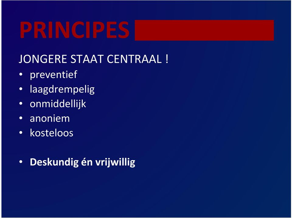 preventief laagdrempelig