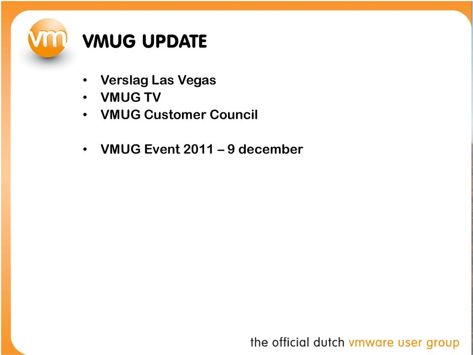 VMUG Customer Council