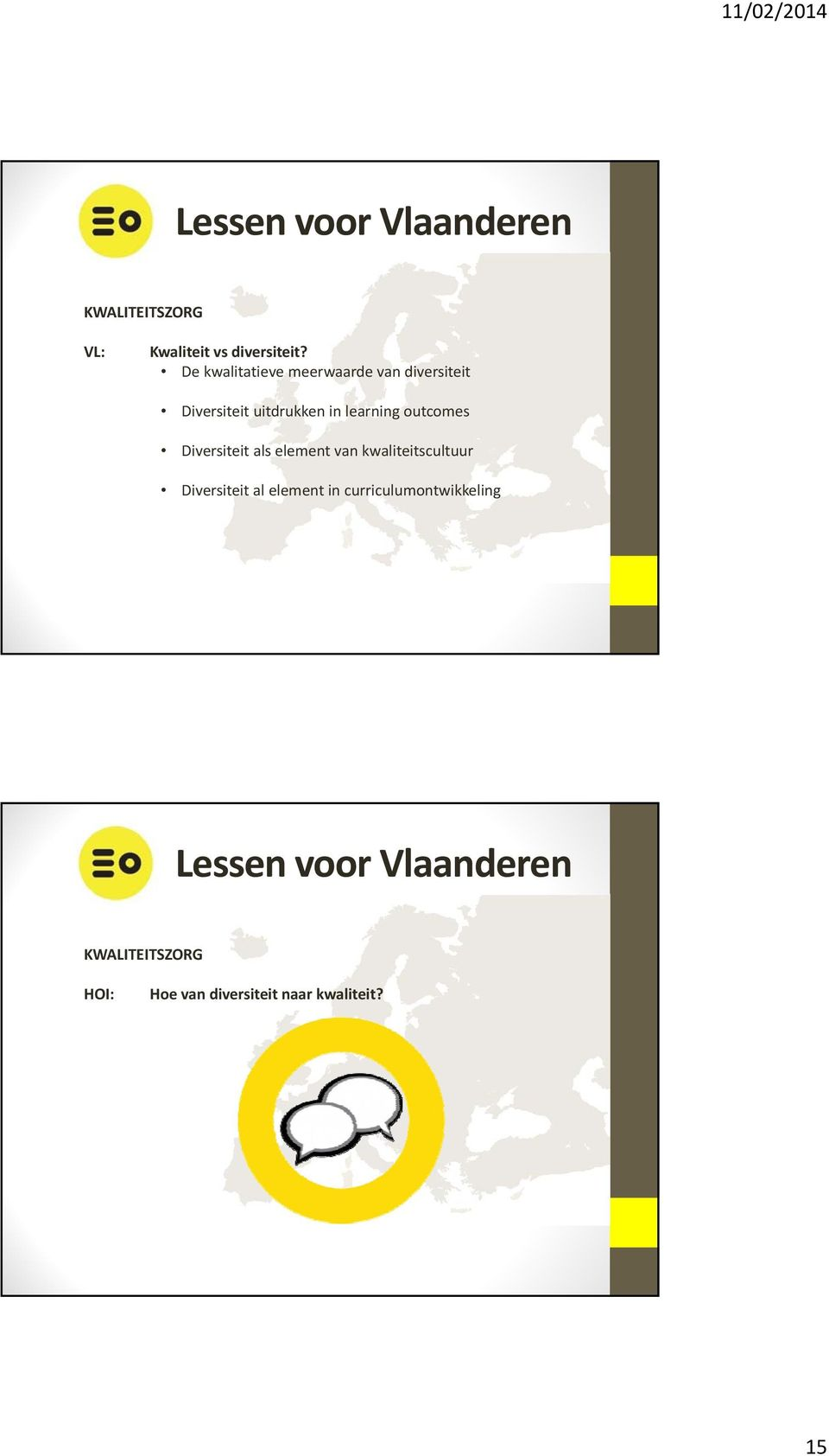 learning outcomes Diversiteit als element van kwaliteitscultuur