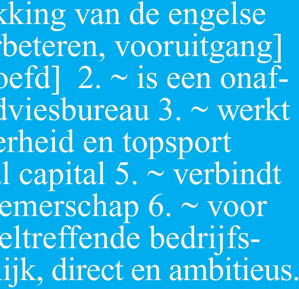 ~ werkt rheid en topsport l capital 5.