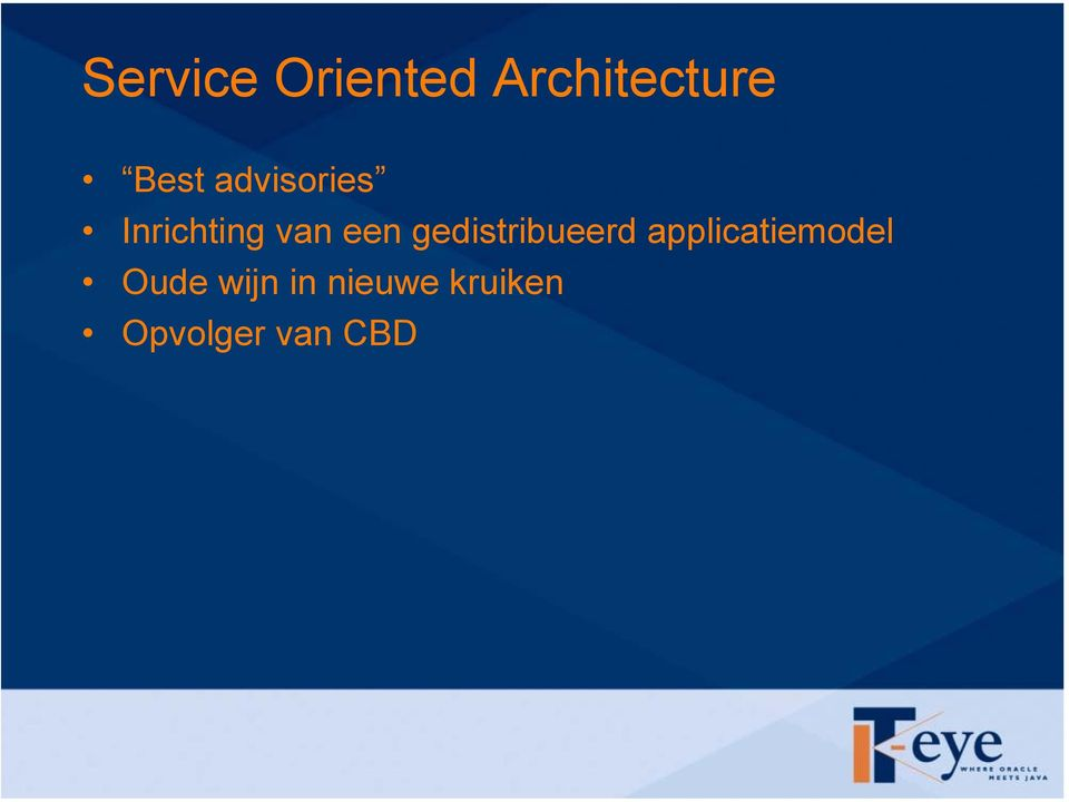 gedistribueerd applicatiemodel