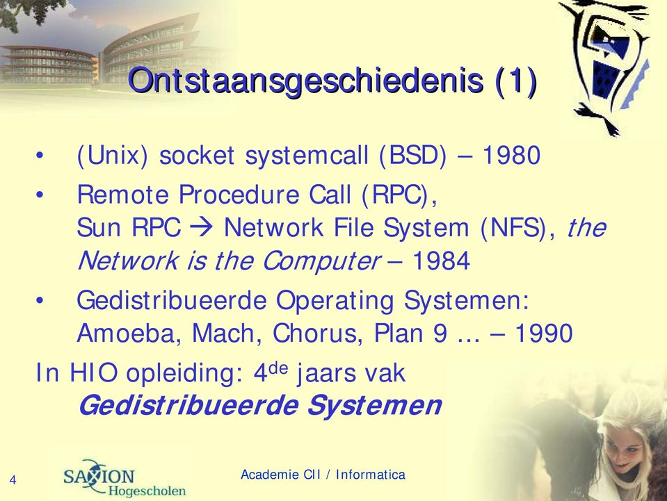the Computer 1984 Gedistribueerde Operating Systemen: Amoeba, Mach,