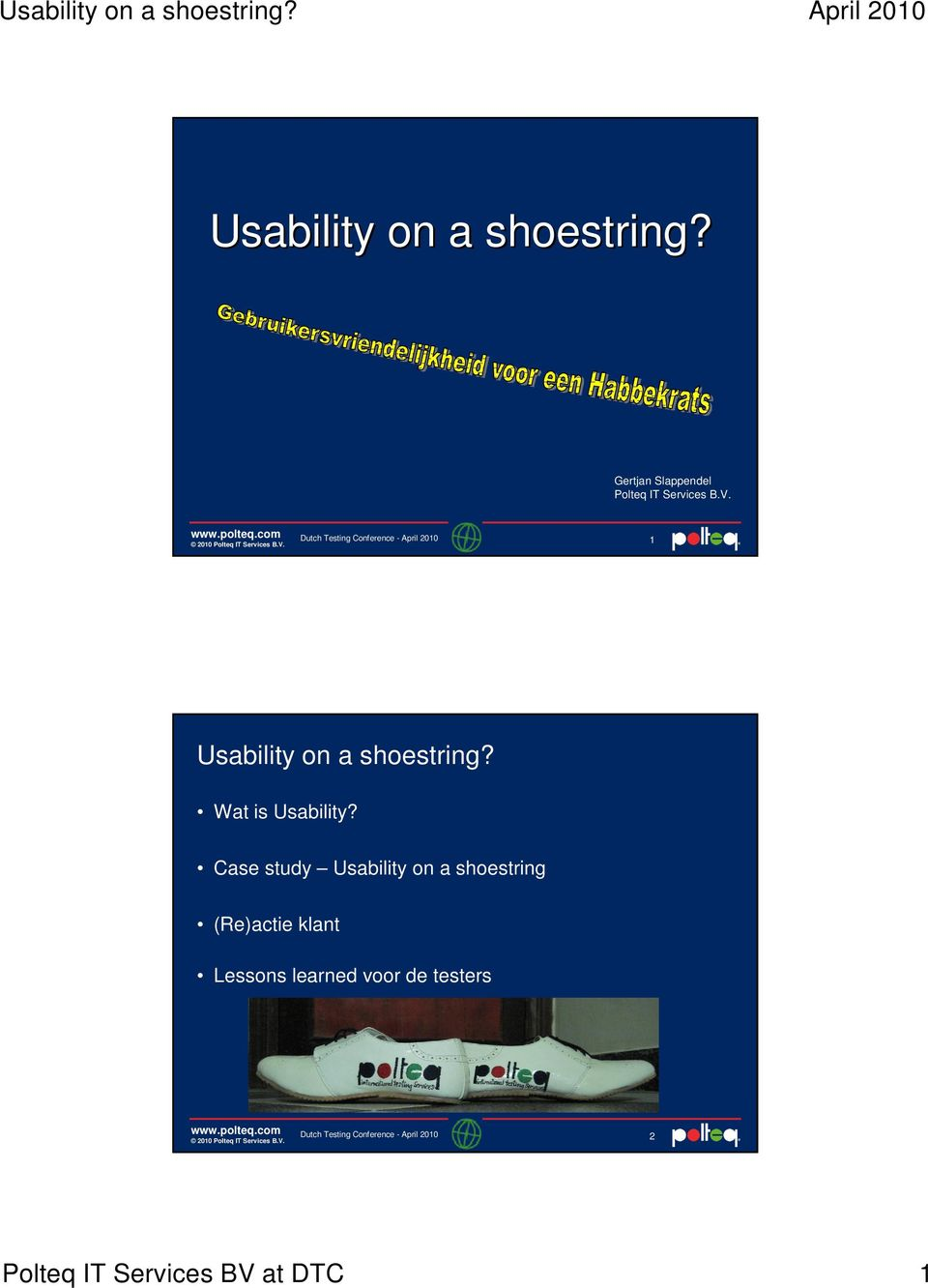 1  Wat is Usability?