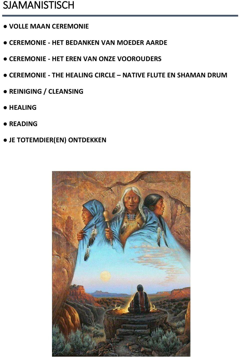 CEREMONIE - THE HEALING CIRCLE NATIVE FLUTE EN SHAMAN DRUM