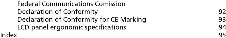 Declaration of Conformity for CE