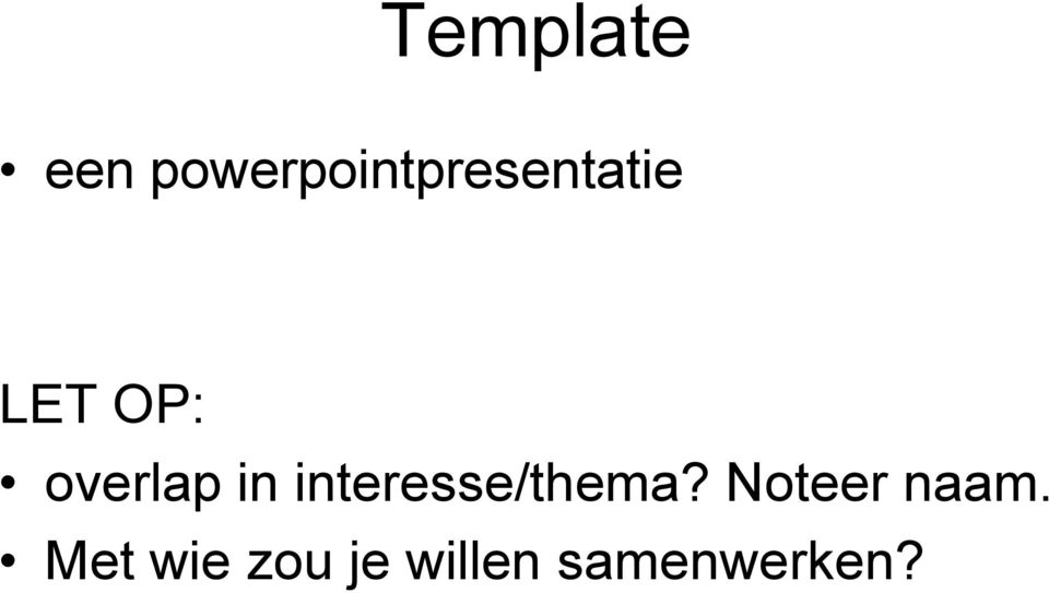 overlap in interesse/thema?