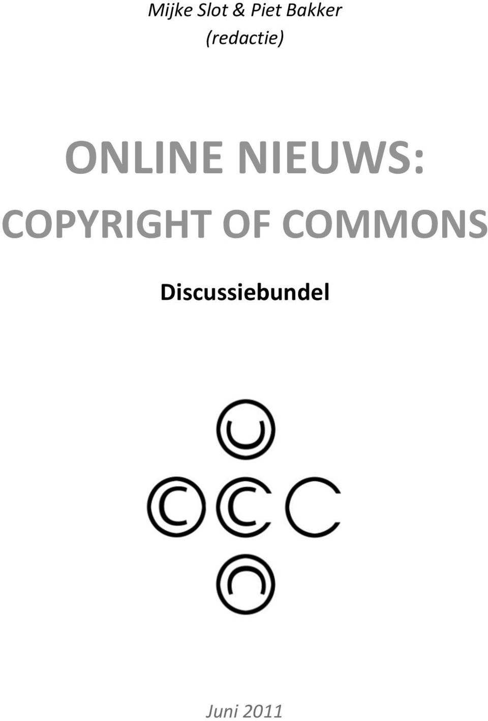 NIEUWS: COPYRIGHT OF
