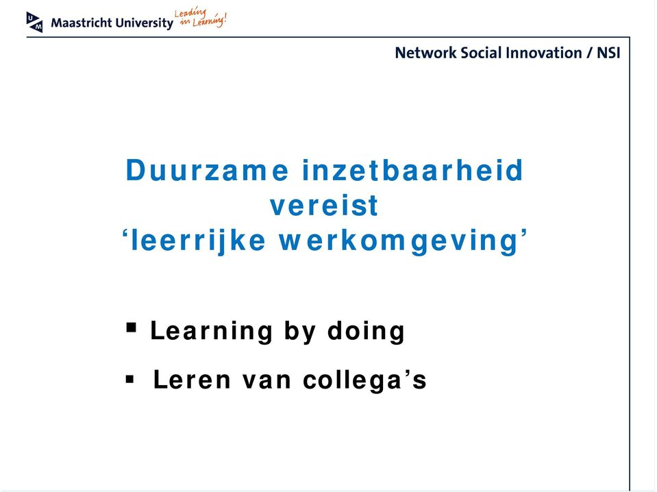 werkomgeving Learning