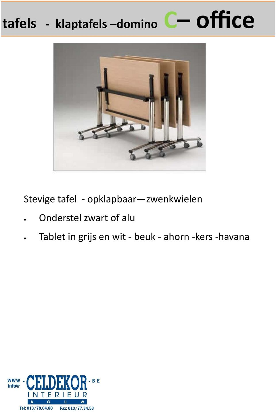 Onderstel zwart of alu Tablet in