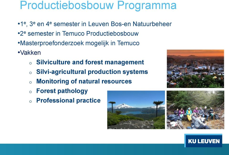 mgelijk in Temuc Vakken Silviculture and frest management