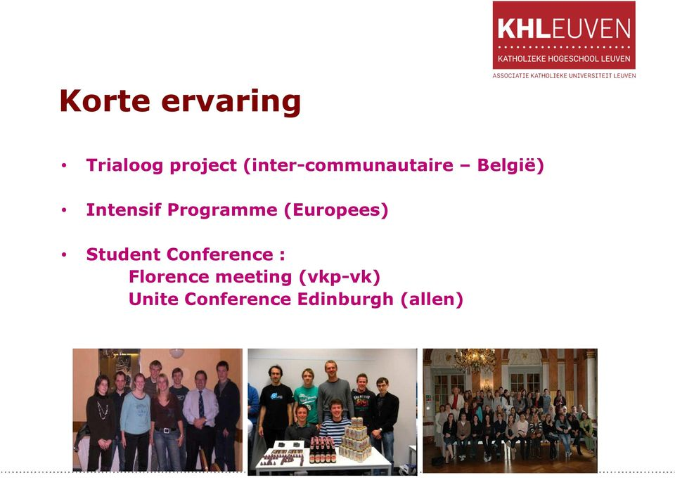 Programme (Europees) Student Conference :