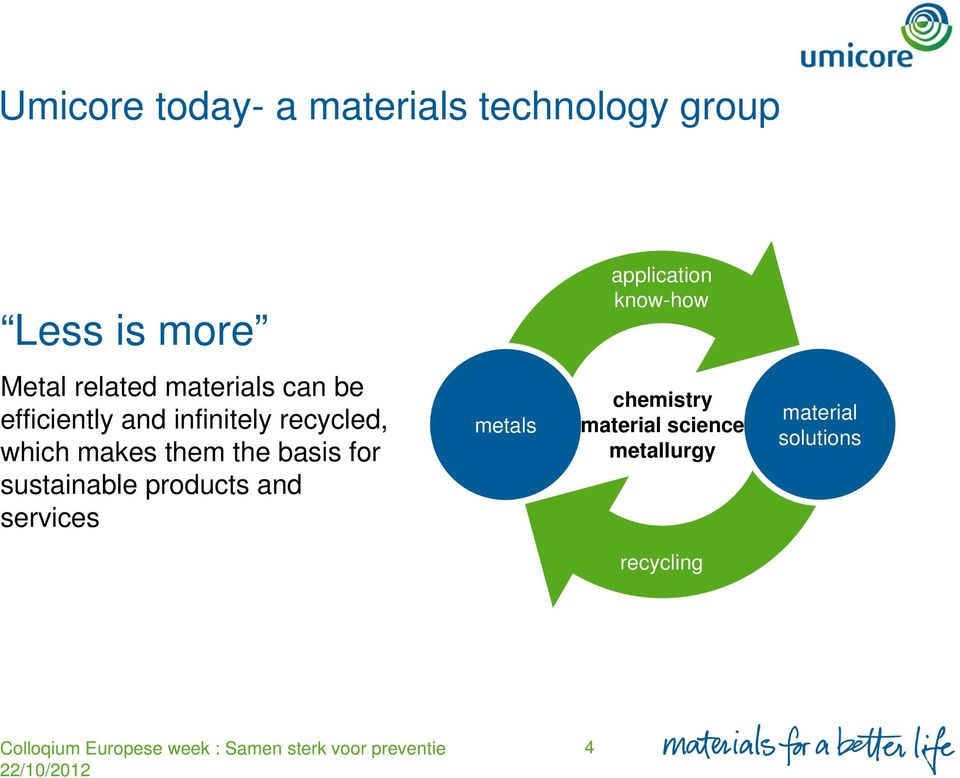 which makes them the basis for sustainable products and services metals