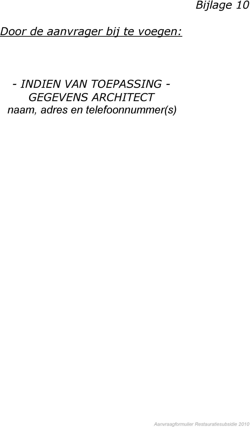 GEGEVENS ARCHITECT