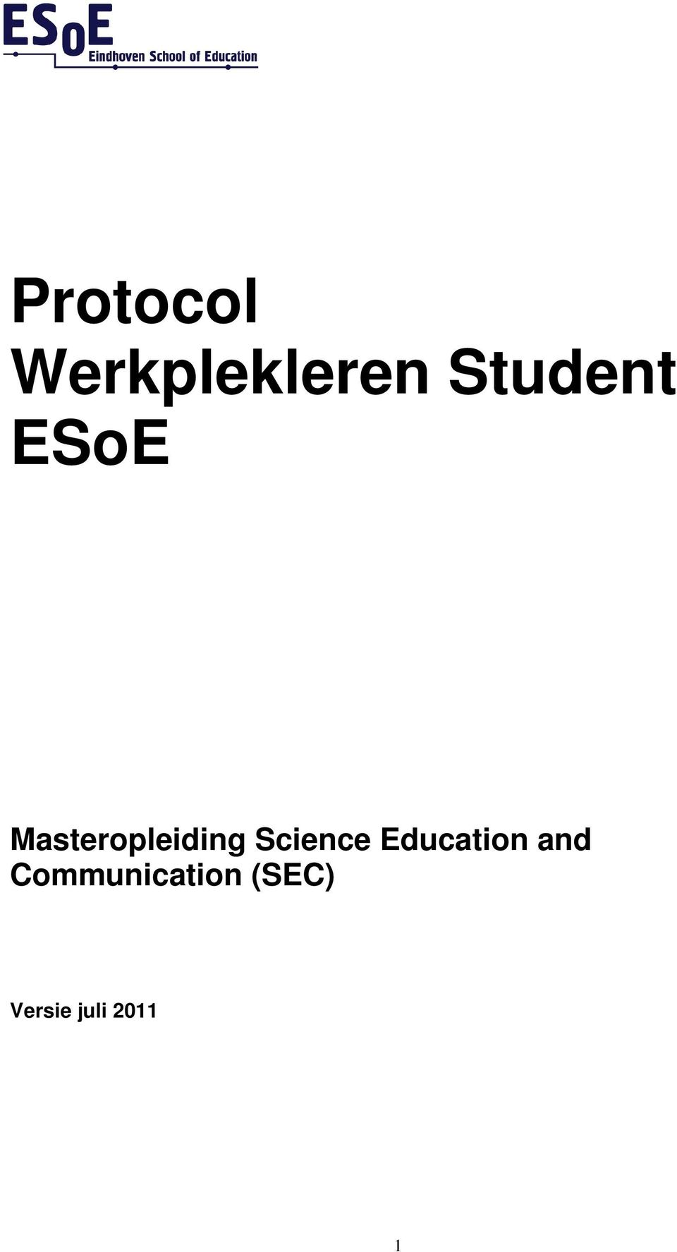 Masteropleiding Science