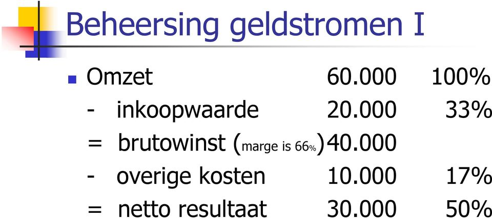 000 33% = brutowinst (marge is 66%)40.