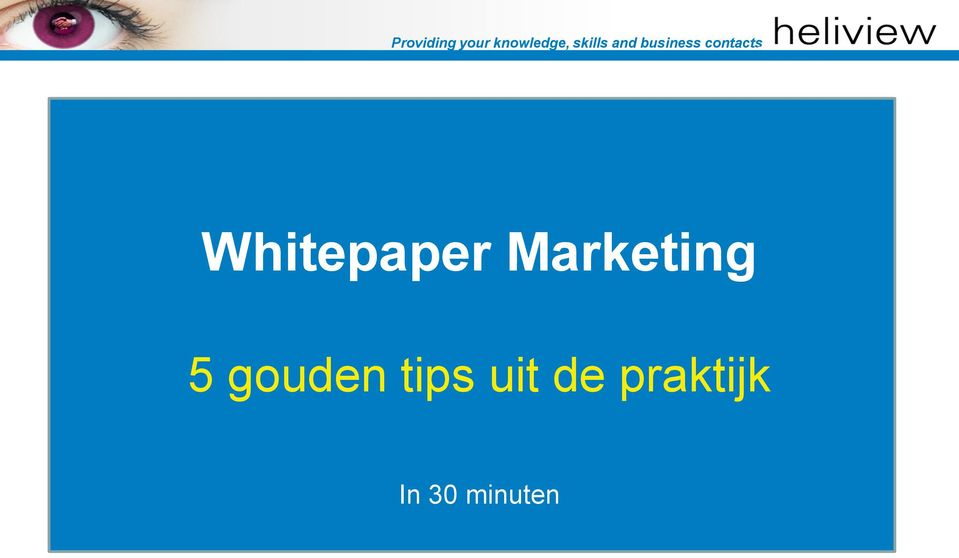 Whitepaper Marketing 5 gouden