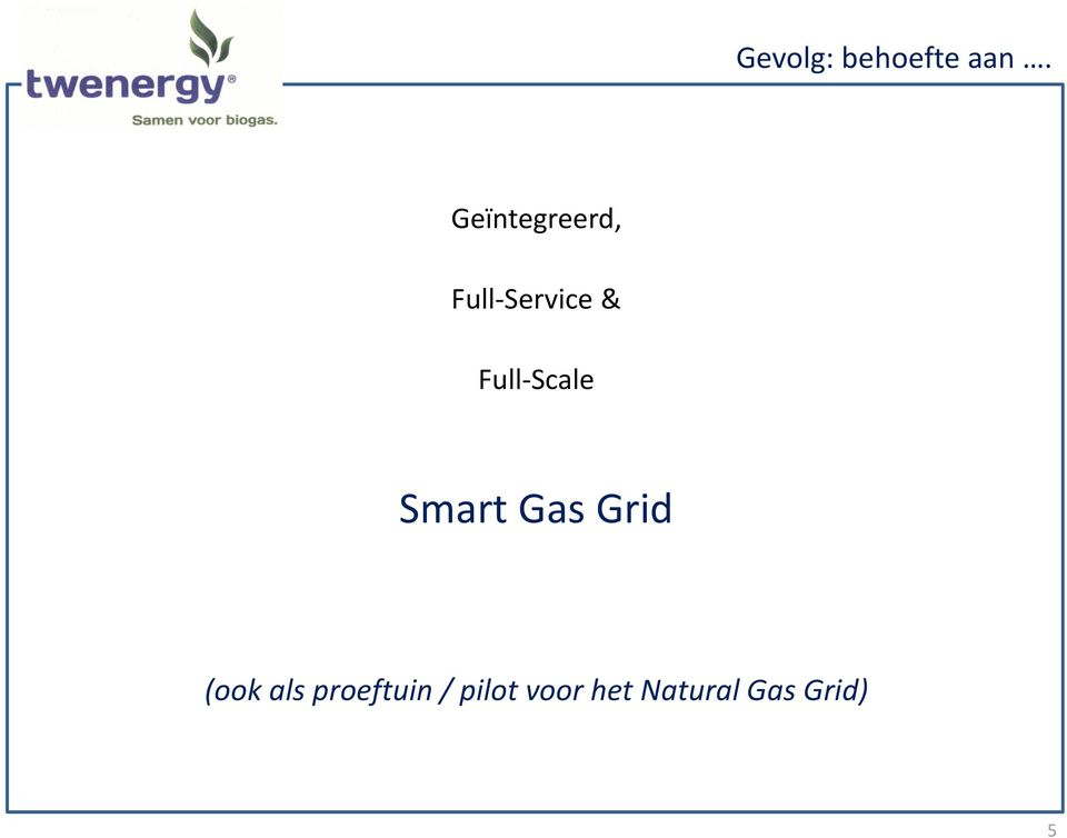 Full-Scale Smart Gas Grid (ook