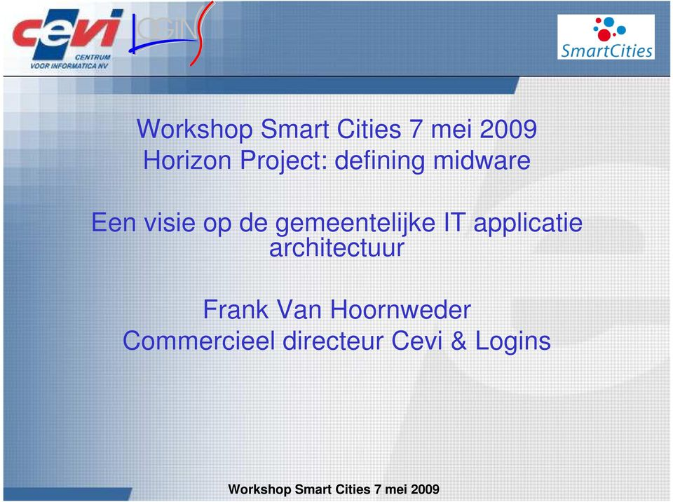 applicatie architectuur Frank Van
