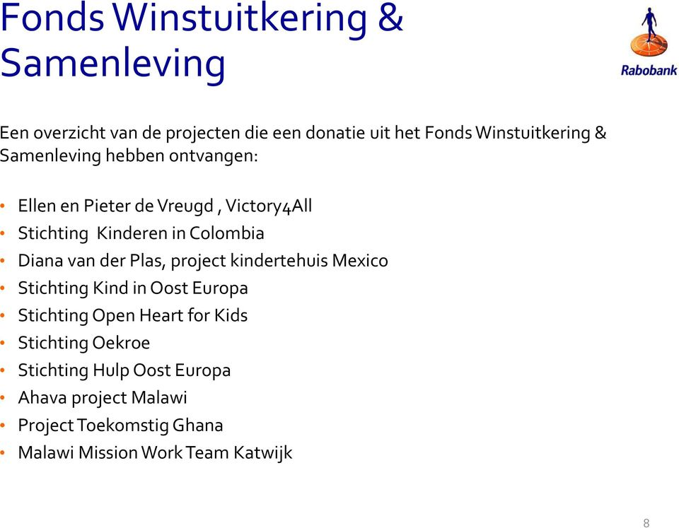 der Plas, project kindertehuis Mexico Stichting Kind in Oost Europa Stichting Open Heart for Kids Stichting
