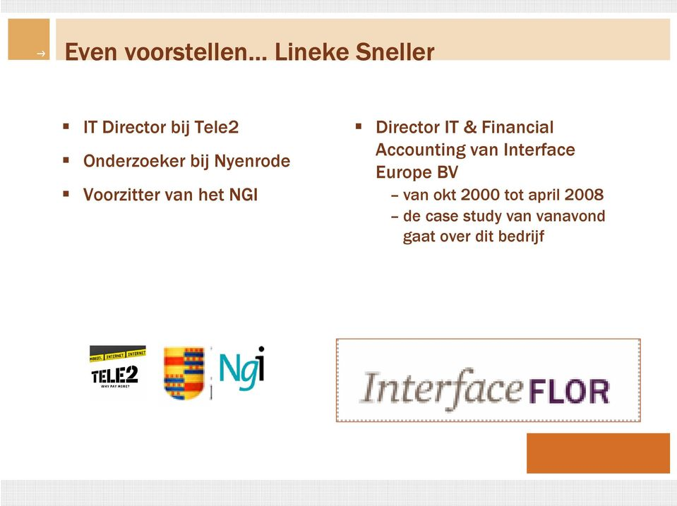 & Financial Accounting van Interface Europe BV van okt 2000