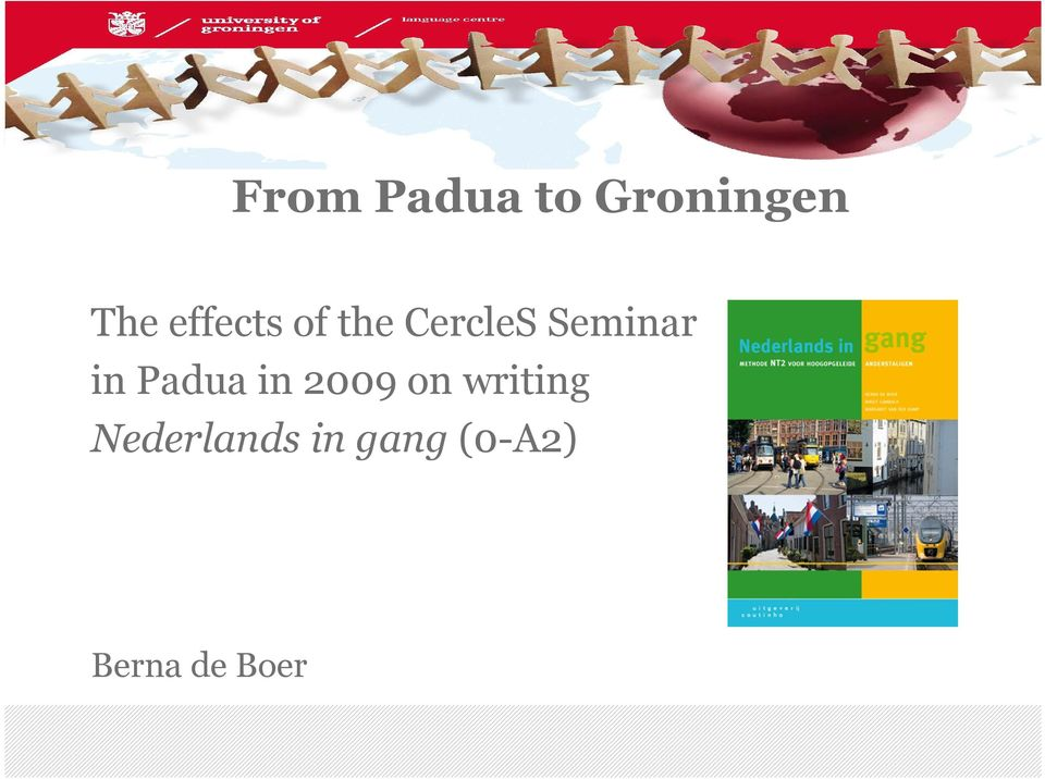 in Padua in 2009 on writing
