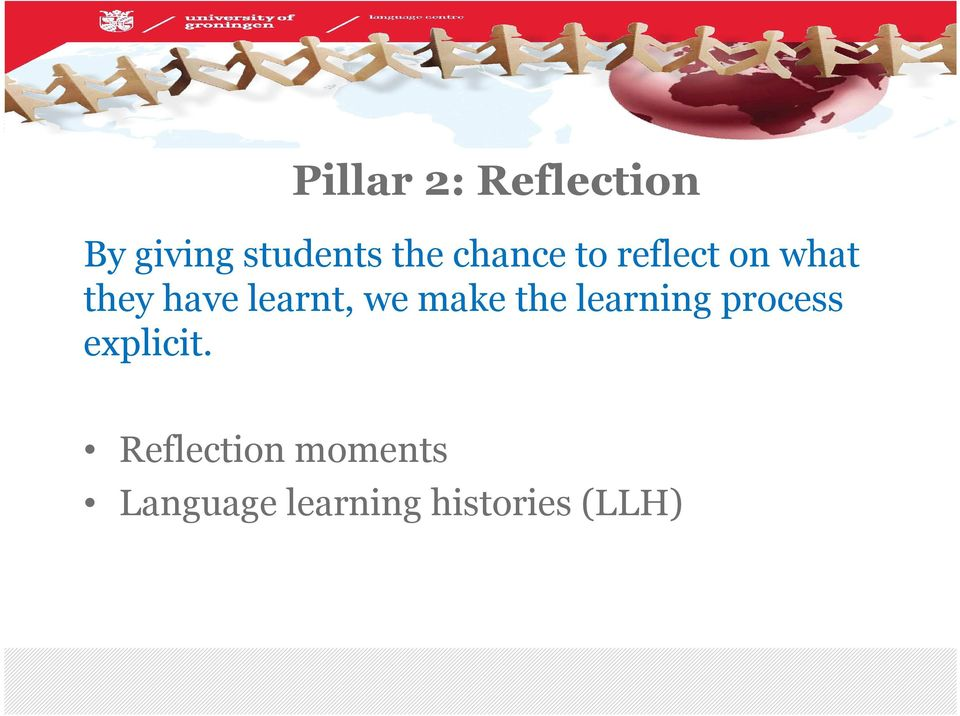 we make the learning process explicit.