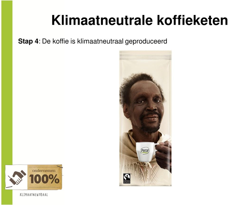 De koffie is