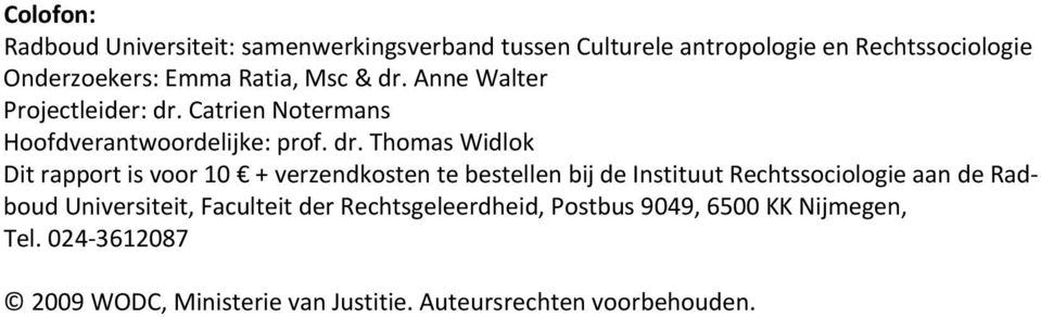 Anne Walter Projectleider: dr.