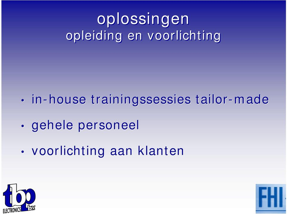 trainingssessies tailor-made