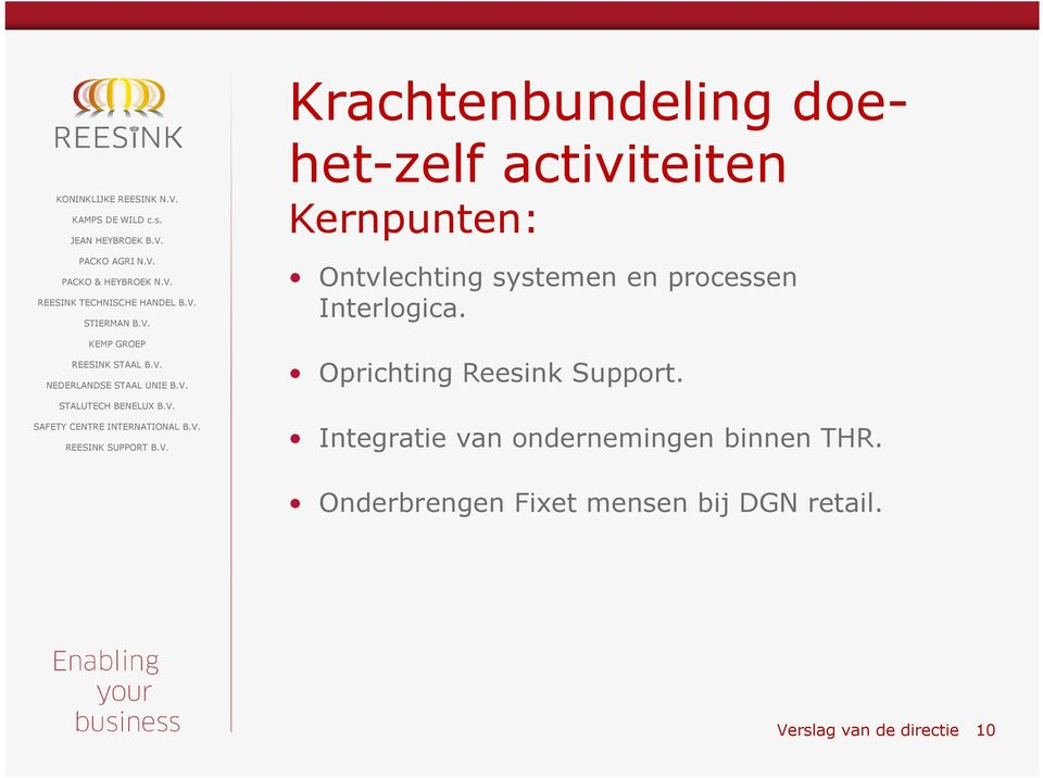 Oprichting Reesink Support.