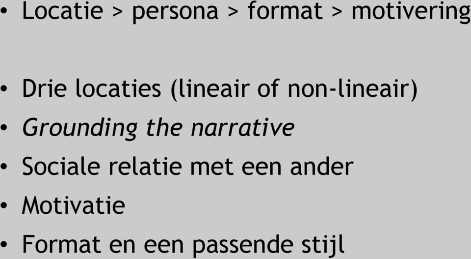 Grounding the narrative Sociale relatie