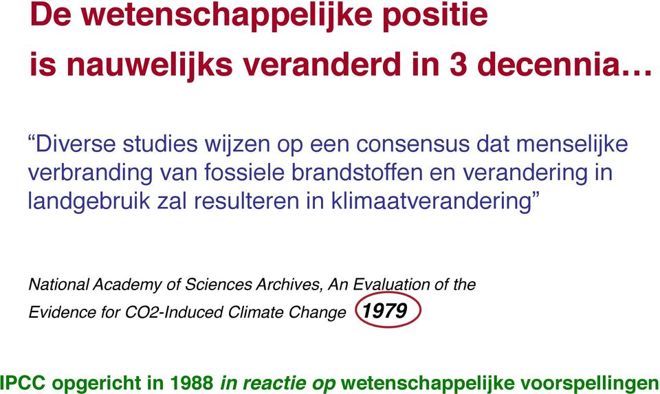 resulteren in klimaatverandering National Academy of Sciences Archives, An Evaluation of the