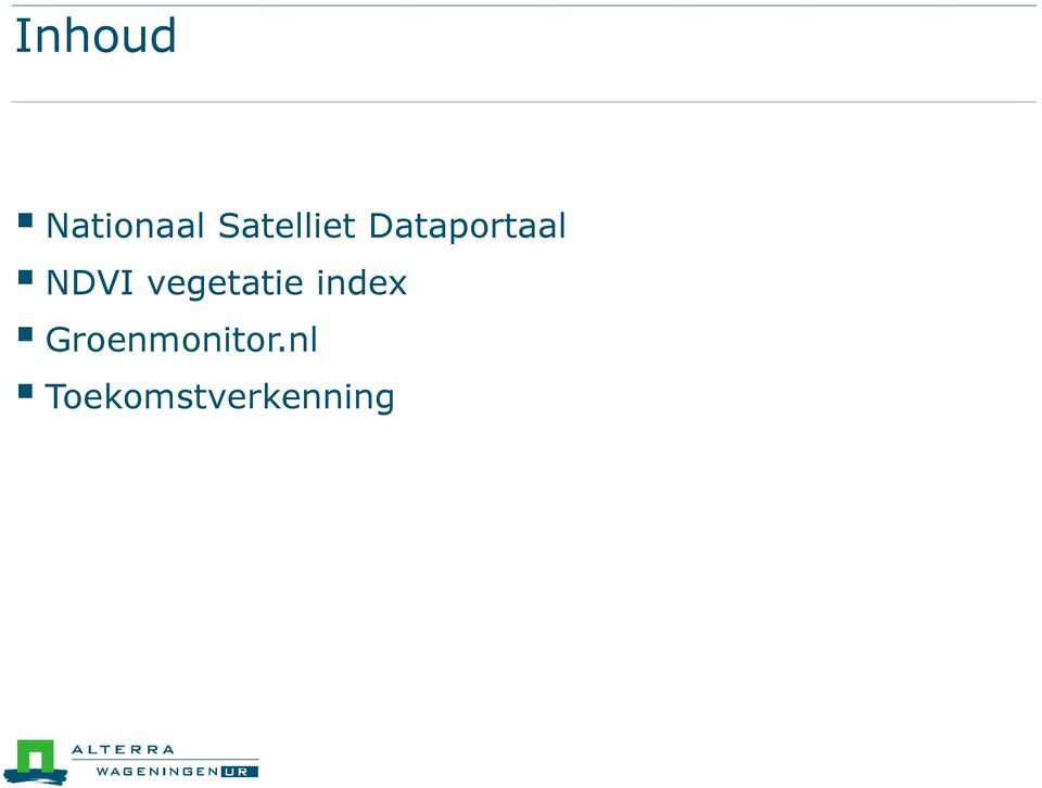NDVI vegetatie index
