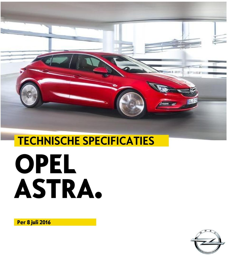 SPECIFICATIES OPEL